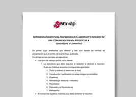 recomendaciones abstract semap