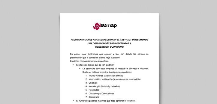 recomendaciones abstract semap